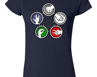 Rock Paper Scissors Lizard Spock Womans T-Shirt