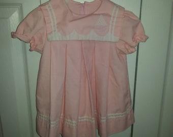 Infant Girls Pink Sailor Dress