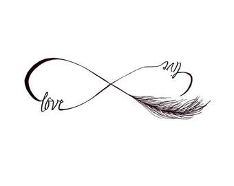30+ Collar Bone Feather Tattoos |Infinity Symbol Love Life
