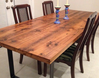 Reclaimed hemlock dining table - Live edge designs by Plank To Table