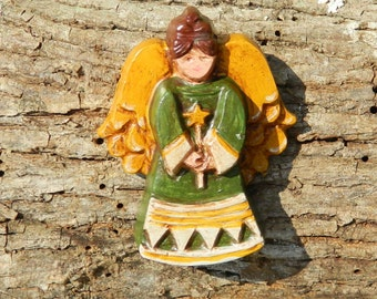 Christmas Star Angel beeswax ornament