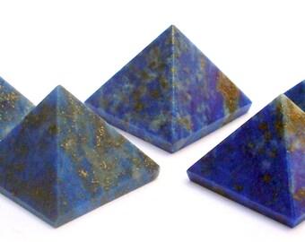 Lapis Lazuli Crystal Pyramids Set of 5 Chakra Lapis Lazuli Pyramids Crystal Healing Stones Reiki Stones