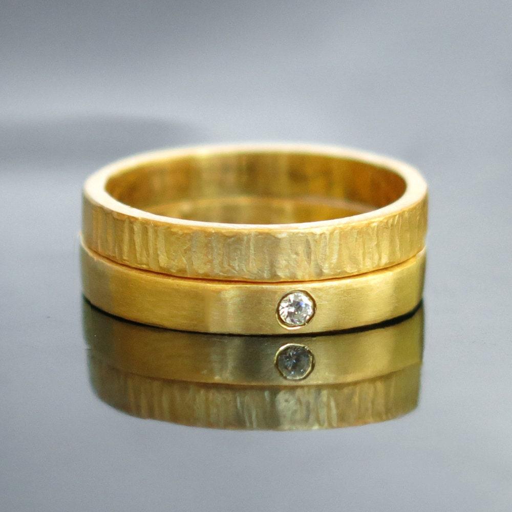Engagement Wedding Ring Set Gold Wedding Band Diamond