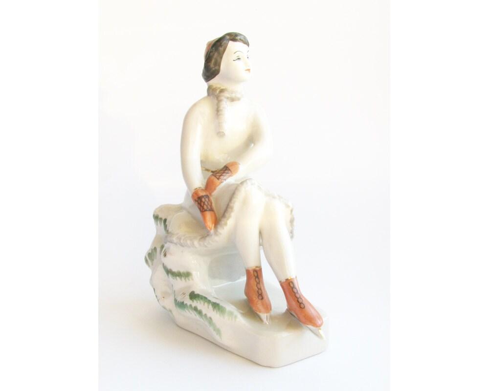 Porcelain figurine figure skater girl rare soviet