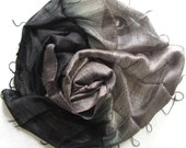Silk shawl-Handmade raw silk scarf-Handwoven silk scarf-Thai silk-Pure silk-Wedding shawl-Bridesmaid gift-Handmade accessories-Organic silk