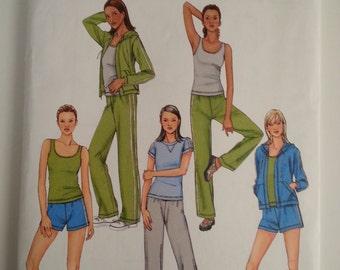 Sweat pants / hooded jacket /gymn suit /hoodie / zipper jacket 2004 sewing pattern, Size 6 8 10 12 14, Bust 30 31 32 34 35, Butterick 4198