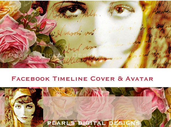 Golden Diva Facebook Timeline Cover with profile Bohemian