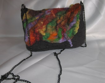 Small handbag for those who likes to go light. Wool for felting.