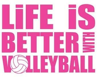 Volleyball shirts volleyball player shirts volleyball for Life is good volleyball t shirt