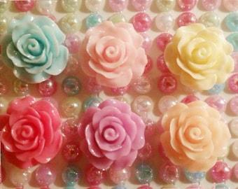 Large roses 4pcs