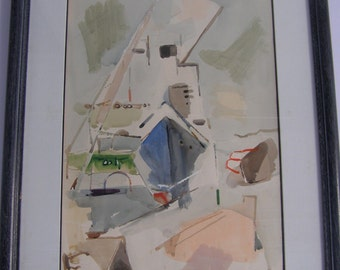 Robert Baser (Israel, 1908–1998) watercolor on paper
