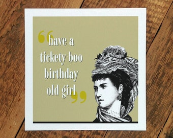 Birthday Card For Her; Happy Birthday Old Girl; Birthday Card Mum; Birthday Card Wife; GC245