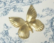 Unplated Brass Butterfly Stamping 2-155-R