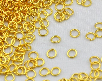 500 pcs of Gold Plated Jump Rings 5mm 20gauge,DIY Accessory Jewelry Making------Q0032