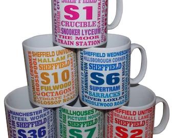 Sheffield postcode mugs, S2