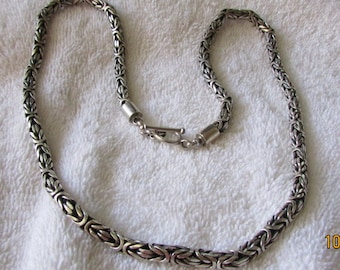 """Sterling Silver 5mm Byzantine 24"""" Chain with Toggle Clasp"""