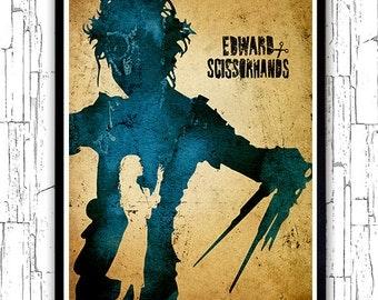 Tim Burton Edward Scissorhands Minimalist Poster