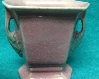 """Roseville Pottery Tuscany Pink Vase 70-5"""""""
