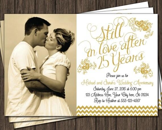 25th Wedding Invitations: 25th Anniversary Invitation 25th Wedding By PuggyPrints On