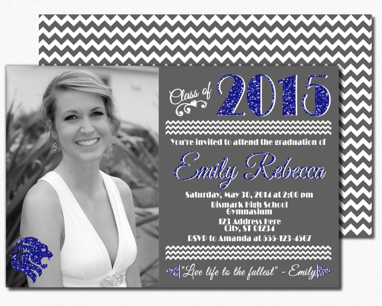 class of 2015 graduation invitation graduation by puggyprints