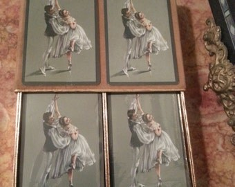 Vintage SEALED Congress Playing Cards with Ballerinas, Set of Two Decks, Sealed Canasta Set in Box