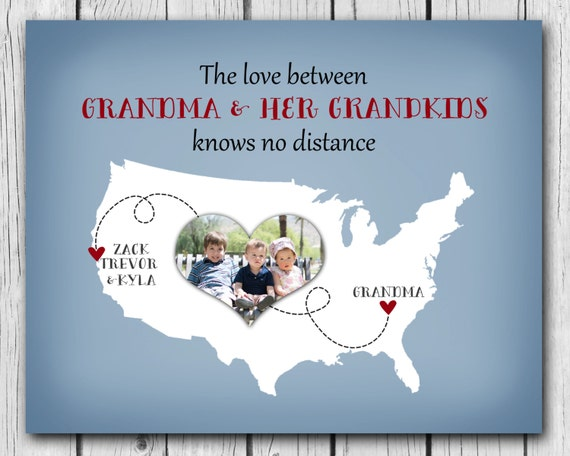 Personalized gift for grandma grandpa grandparents birthday for Good birthday presents for grandma
