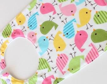 SALE! Original baby bib - chicks - baby feeding bib