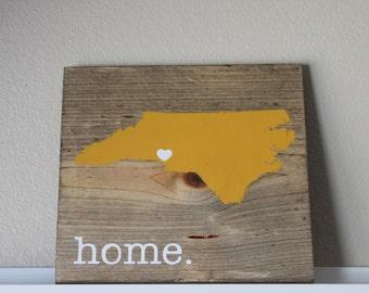North Carolina Wood Sign, State Sign, Custom Wood Sign, Pallet Sign, Personalized Wood Sign, home decor, wall art, moving gift