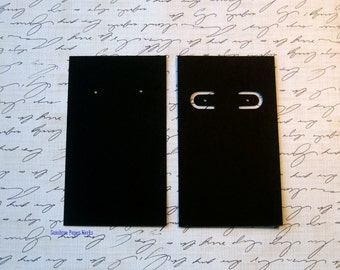 25 - Black Earring Cards - 3.5 x 2 - 215 GSM, 80lb cardstock