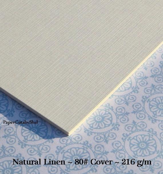 Natural Linen Card Stock 80 Lb. 8.5 X 11 25