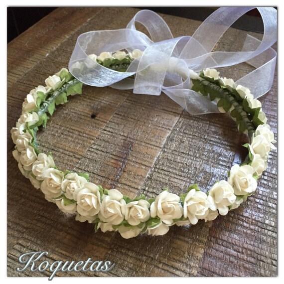 Ben noto Corona di fiori bianchi. Le ragazze di fiori corona. Corona di IJ64