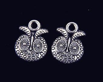 round tibetan antique silver owls  10 pcs