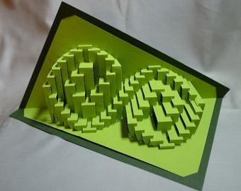 Eddies' Droop : kirigami pop-up paper sculpture