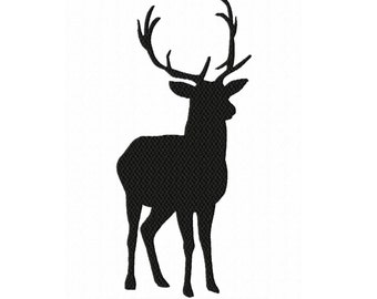 Silhouette Stag/Buck 1  Fill Machine Embroidery Design NO. 68