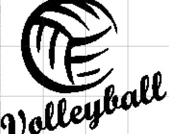 Volleyball Crochet Graphghan Pattern