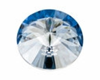 SWAROVSKI 1122 14mm Rivoli - Crystal Blue Shade