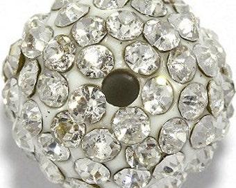 Rhinestone Disco 20mm Balls - Silver / Crystal