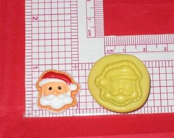 Christmas Santa 2D Flexible Push Mold A680 Fondant Silicone Cake Resin Sugar