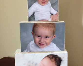 Custom Wood Photo Block Set