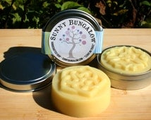 Grace All Natural Solid Lotion Bar with Shorea Butter and Organic Beeswax- Purse/Gym size