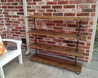 popular items for pipe shelving on etsy. Black Bedroom Furniture Sets. Home Design Ideas