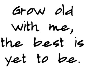 Grow old with me  vinyl decal/sticker