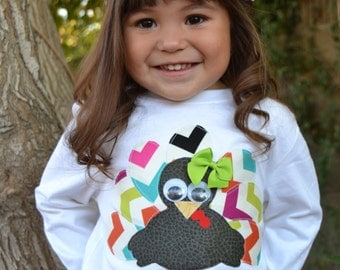 Girls Turkey Shirt-- Girl Thanksgiving Shirt-- Girls turkey-- Baby Turkey-- Thanksgiving Girls-- Girls Thanksgiving- Baby Thanksgiving