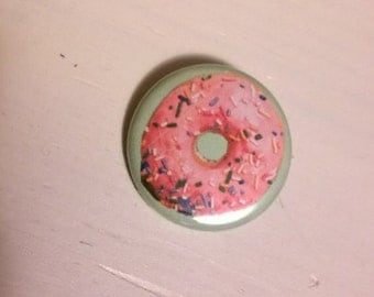 Yummy Doughnut 1.25 inch button