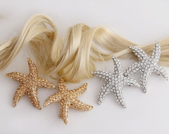 Starfish Hair Accessories with Swarovski Crystals