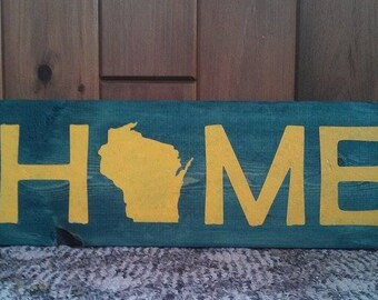 Green Bay Packers Painted Home Wisconsin Sign