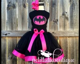 Batman Costume Birthday Tutu set sizes 12m to 8y  * FREE Headband