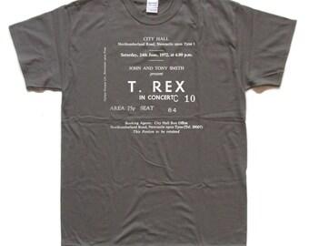 T. REX / Marc Bolan TRIBUTE screen printed T Shirt