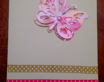 Pastel butterfly card