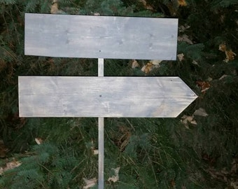 Directional Sign 24 Double Wood